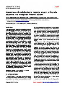 Awareness of mobile phone hazards among university students in a ...