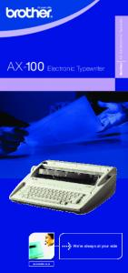 AX-100 Electronic Typewriter