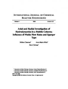 Axial and Radial Investigation of Hydrodynamics in a Bubble Column ...