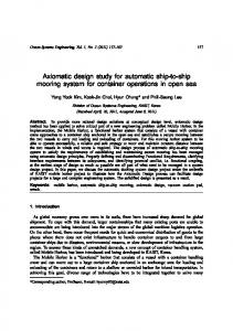 Axiomatic design study for automatic ship-to-ship mooring ... - CiteSeerX