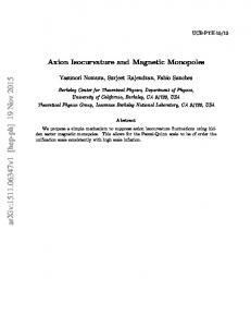 Axion Isocurvature and Magnetic Monopoles