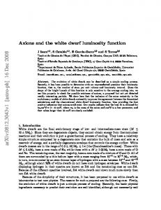 Axions and the white dwarf luminosity function