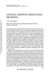 Axonal Growth-Associated Proteins