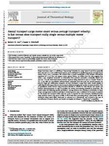 Axonal transport cargo motor count versus average