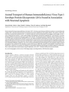 Axonal Transport of Human Immunodeficiency ... - Semantic Scholar