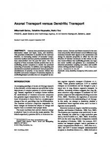 Axonal transport versus dendritic transport - Wiley Online Library