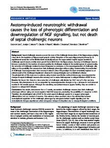 Axotomy-induced neurotrophic withdrawal causes ... - Semantic Scholar