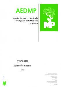 Ayahuasca Scientific Papers