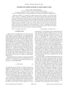 Azimuthal and zenithal anchoring of nematic liquid crystals