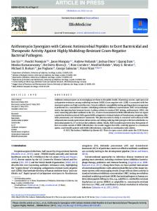 Azithromycin Synergizes with Cationic Antimicrobial ...