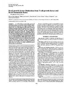 B-cell growth factor