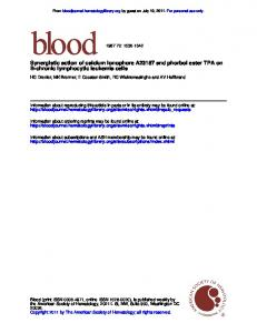 B-chronic lymphocytic leukemia cells Synergistic ...