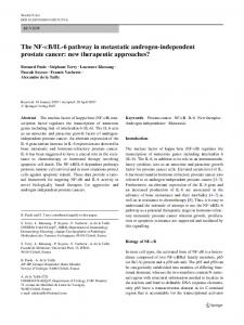 B/IL-6 pathway in metastatic androgen-independent ...
