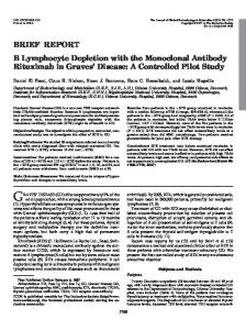 B Lymphocyte Depletion with the Monoclonal Antibody Rituximab in ...