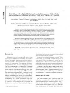 B2O3/Al2O3 as a new, highly efficient and reusable heterogeneous ...