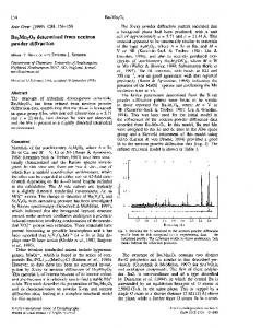 Ba3Mn2O8 determined from neutron powder diffraction - IUCr Journals