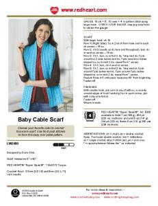 Baby Cable Scarf - Montours Church