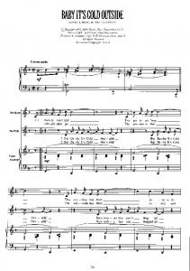 BABY IT'S COLD OUTSIDE - Free Piano Sheet Music