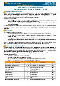 BAC Sciences et Technologies du Management et de la Gestion ...