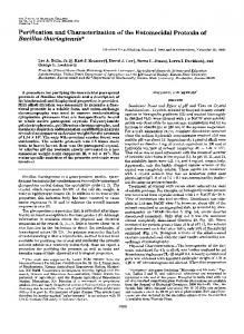 Bacillus thuringiensis - The Journal of Biological Chemistry