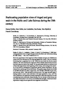 Backcasting population sizes of ringed and grey seals ...