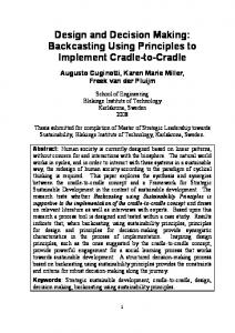 Backcasting Using Principles to Implement Cradle-to-Cradle - CiteSeerX