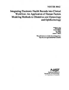 Background and Problem Statement - NIST Page - National Institute of ...