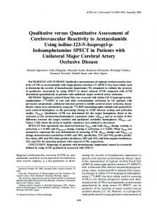BACKGROUND AND PURPOSE: Qualitative measurement of regional ...
