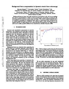 Background force compensation in dynamic atomic force microscopy