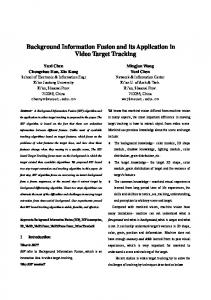 Background Information Fusion and its Application in Video Target ...