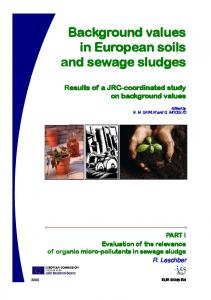 Background values in European soils and sewage sludges - Ispra