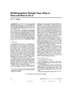 Backpropagation through time: what it does and how to do it ...