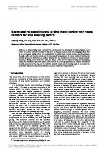 Backstepping based integral sliding mode control with neural network ...