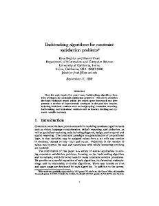 Backtracking algorithms for constraint satisfaction problems
