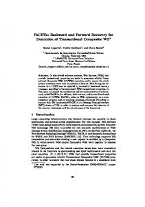 Backward and Forward Recovery for Execution of Transactional ...
