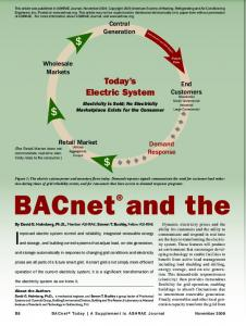 BACnet and the Smart Grid - BACNet.org