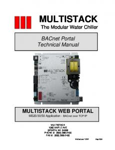 BACnet Portal Technical Manual Multistack - Chipkin Automation ...