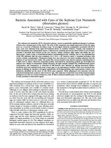 Bacteria Associated with Cysts of the Soybean Cyst Nematode ...