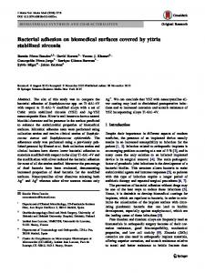 Bacterial adhesion on biomedical surfaces covered by ... - Springer Link