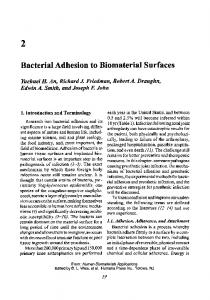Bacterial Adhesion to Biomaterial Surfaces - Springer Link
