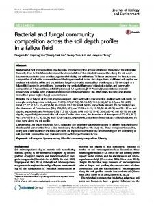 Bacterial and fungal community composition across the soil depth ...