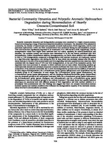 Bacterial Community Dynamics and Polycyclic Aromatic Hydrocarbon ...