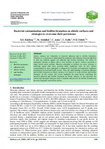 Bacterial contamination and biofilm formation on abiotic surfaces and ...