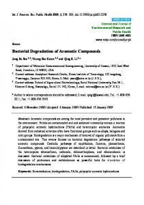 Bacterial Degradation of Aromatic Compounds - BioMedSearch