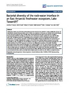 Bacterial diversity of the rock-water interface in an ... - BioMedSearch