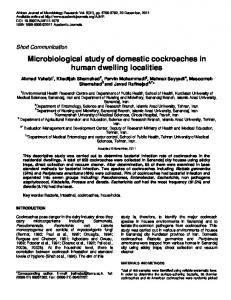 Bacterial infection evaluation of dwellings ... - Academic Journals