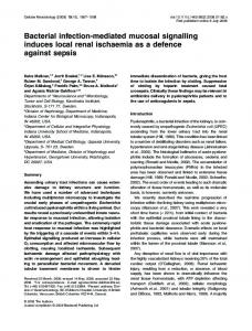 Bacterial infection-mediated mucosal signalling ... - Wiley Online Library