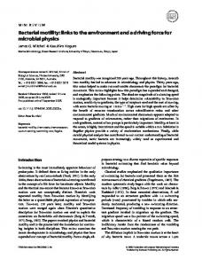 Bacterial motility - Wiley Online Library