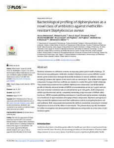 Bacteriological profiling of diphenylureas as a novel class of ... - PLOS