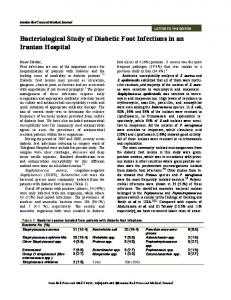 Bacteriological Study of Diabetic Foot Infections in an ... - CiteSeerX